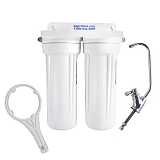 Under Sink Two Stage Water Filter System - All NSF approved components for FLUORIDE TREATED City Water: Chlorine, Chloramine, Fluoride, Arsenic, Lead and more