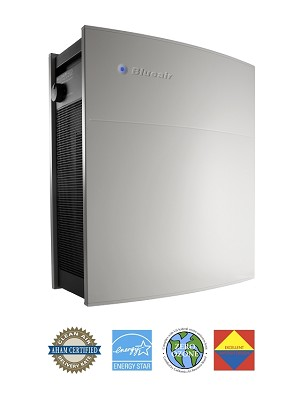 Blueair Classic 403 Air Purifier with HEPASilent or SmokeStop Filters - Quiet, easy filter changes, 365 sq. ft. coverage.