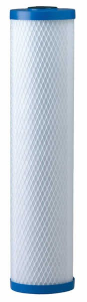 "20"" x 4.5"" Solid Carbon Block Big Blue Replacement Filter (End Cap color may vary)"