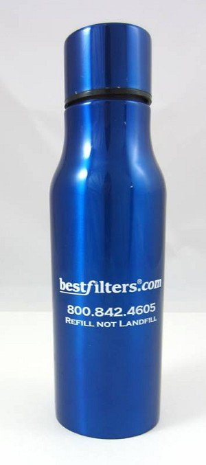 Blue Stainless Steel Water Bottle - 16 oz.