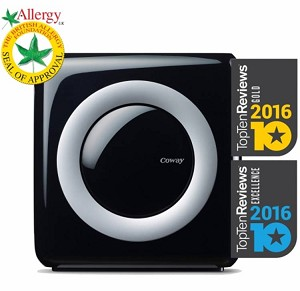 Coway Air Purifier AP-1512HH - Air quality and filter change indicators, long lasting replaceable 4 stage HEPA filters.