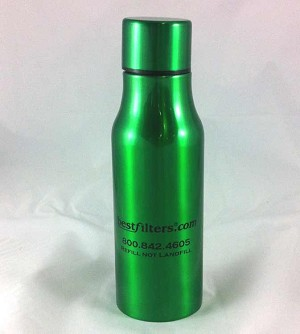 Green Stainless Steel Water Bottle - 16 oz.